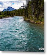 Mistaya River Blues Metal Print