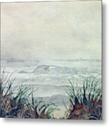 Misty Morning On Lawrencetown Beach Metal Print