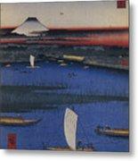 Mitsumata Wakarenofuchi One Hundred Metal Print