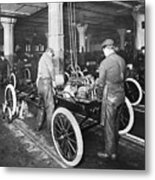 Model T Being Assembled In Ford Plant Metal Print