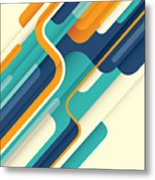 Modern Abstract Illustration In Color Metal Print