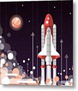 Modern Vectorflat Design Illustration Metal Print