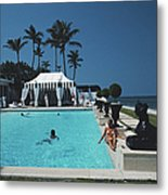 Molly Wilmots Pool Metal Print