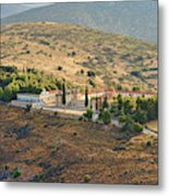 Monastery Agion Anargiron Above Argos Metal Print