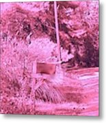 Monochromerose Countyroad Metal Print