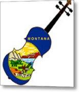 Montana State Fiddle Metal Print