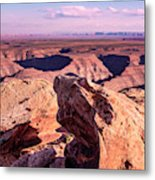 Monument Valley At A Distance Metal Print