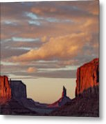 Monument Valley Sunset Metal Print