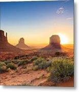 Monument Valley Twilight, Az, Usa Metal Print