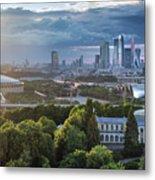 Moody Cityscape Of Moscow – Luzhniki Metal Print