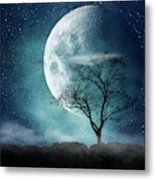 Moon Blues Metal Print