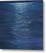 Moon Glow On The River Metal Print