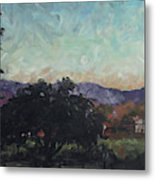 Moonlight Ranch Metal Print