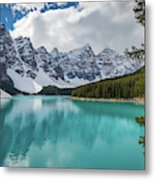 Moraine Lake Range Metal Print