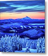 Morning From Timberline Lodge Metal Print