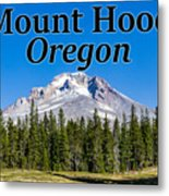 Mount Hood Oregon In Fall Metal Print