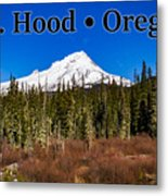 Mount Hood Oregon In Winter 01 Metal Print
