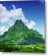 Mount Roto Nui Volcanic Mountain Moorea Metal Print