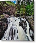 Mount Tremblant Waterfall Metal Print