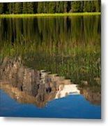 Mountain Reflection In Beirstadt Lake Metal Print
