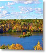 Mountain View Of Huron-manistee  Forest Metal Print