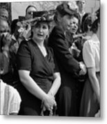 Mourners Watch Fdrs Funeral Procession Metal Print