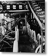 Moving Assembly Line Metal Print