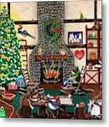 Ms. Elizabeth's Holiday Home Metal Print