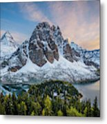 Mt Assinniboine Sunset Metal Print