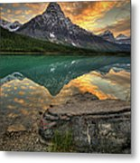 Mt Chephren Sunset Metal Print