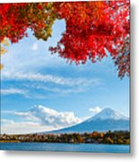 Mt. Fuji In Autumn Metal Print