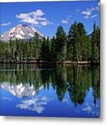 Mt Lassen And Reflection Lake, Lassen Metal Print
