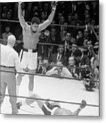 Muhammad Ali Knocks Out Cleveland Metal Print