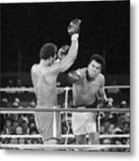 Muhammad Ali Punching George Foreman Metal Print