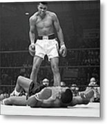 Muhammad Ali Taunting Sonny Liston Metal Print