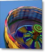 Multicolored Spinning Carnival Ride Metal Print
