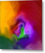 Multiple Colored Abstract By Delynn Addams Metal Print