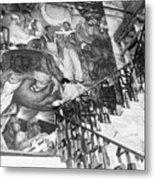 Mural By Artist Diego Rivera Metal Print