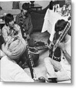 Musician George Harrison Receiving Metal Print