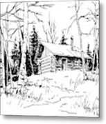 My Cabin In The Woods Metal Print