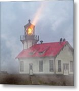 Mystical Point Cabrillo Lighthouse California Metal Print