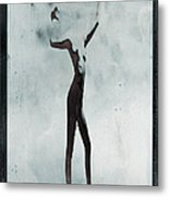 Naked Body Of Woman Without Head Metal Print