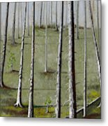 Naked Forest Metal Print