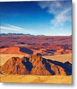 Namib Desert, Dunes Of Sossusvlei Metal Print