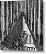 Men Marching At Night, 1918 Metal Print