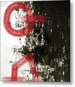 Natural Reflections With Red Shapes Metal Print