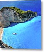 Navagio Beach, Zakynthos Island, Greece Metal Print