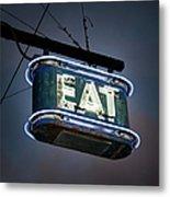 Neon Eat Sign Metal Print