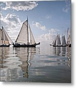 Netherlands, Race Of Traditional Metal Print