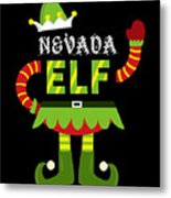 Nevada Elf Xmas Elf Santa Helper Christmas Metal Print